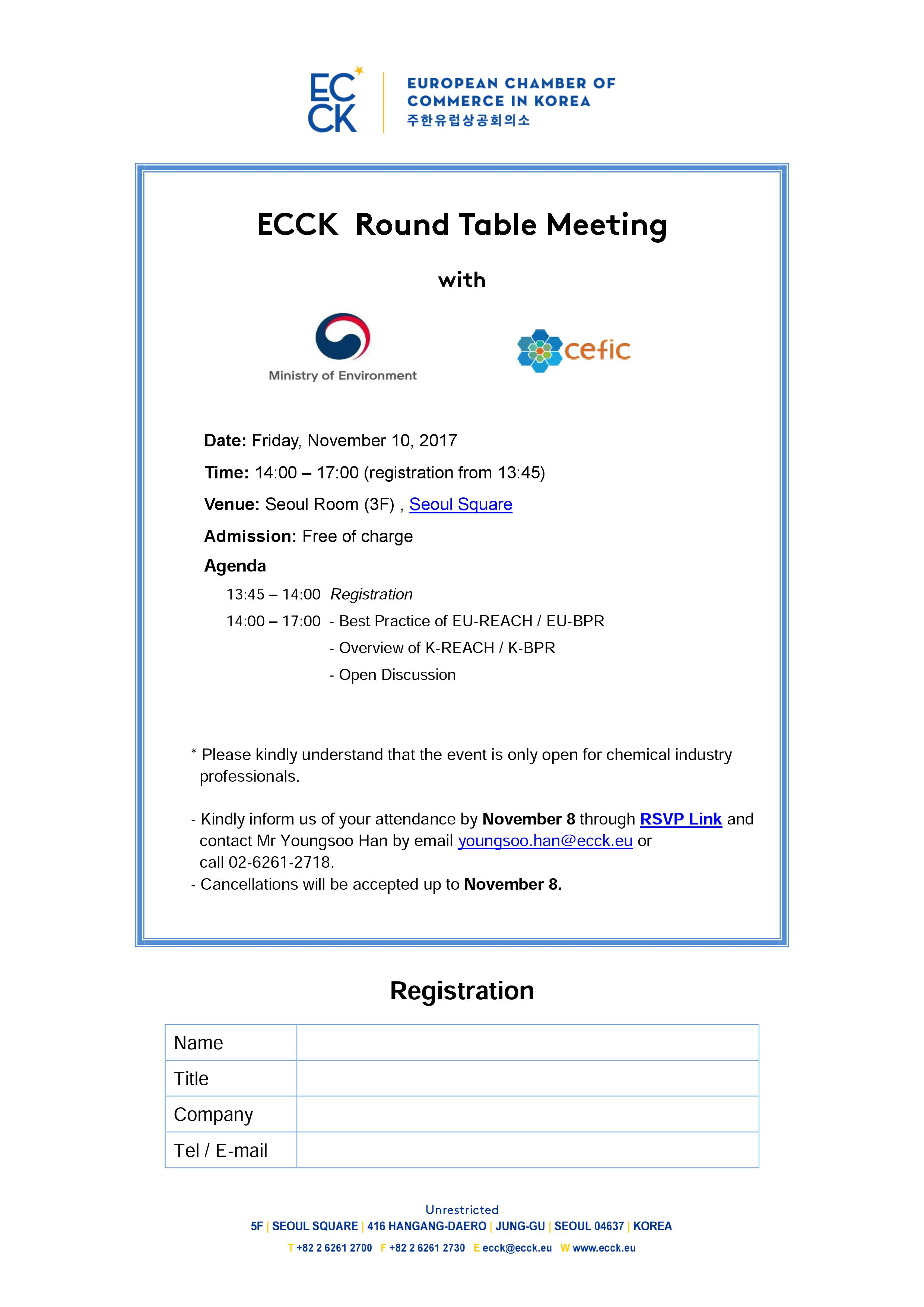 Groovy Ecck Round Table Meeting With Ministry Of Environment Cefic Download Free Architecture Designs Itiscsunscenecom